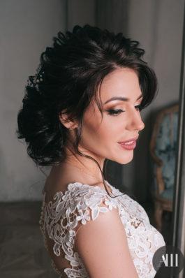 Шикарный свадебный образ текстурная прическа и макияж от Анжелики Мавриной