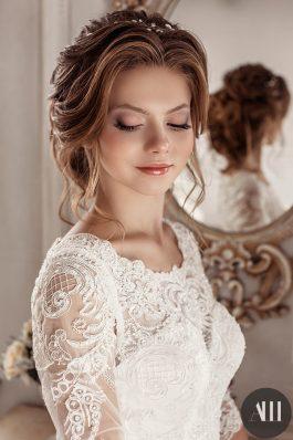 Нежный свадебный макияж и элегантная прическа от Анастасии Швабской