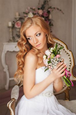 Нежный свадебный образ прическа и макияж от стилиста Анастасии Соколовой