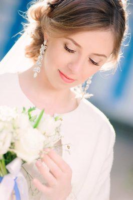 Нежный свадебный образ прическа и макияж от топ-стилиста Анастасии Соколовой