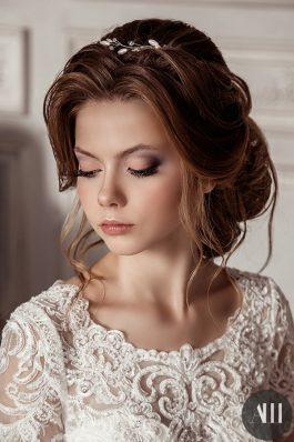 Шикарная свадебная прическа и нежный макияж от ведущего стилиста Анастасии Швабской