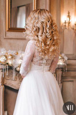 Шикарные объемные локоны на свадьбу от стилиста Татьяны Маковской