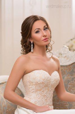 Шикарный свадебный образ от топ-стилиста Анастасии Соколовой Студия причесок и макияжа Анастасии Швабской