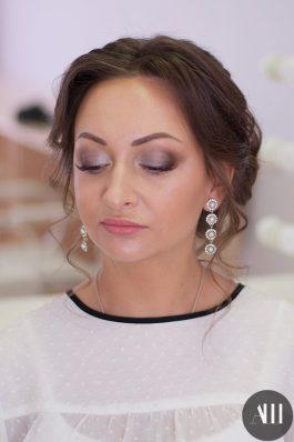 Красивый макияж на свадьбу с акцентом на глаза