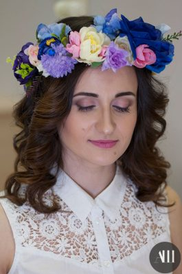 Локоны и макияж на свадьбу