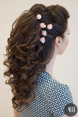 Локоны на свадьбу с накладными волосами