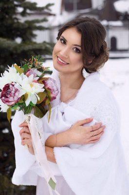 Макияж и прическа на свадьбу от стилиста Ангелины Солнцевой
