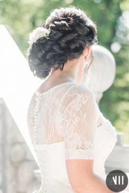 Прическа греческая коса на средние волосы на свадьбу