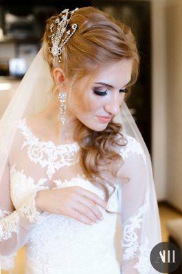 Прическа и макияж на свадьбу от стилистов студии Анастасии Швабской