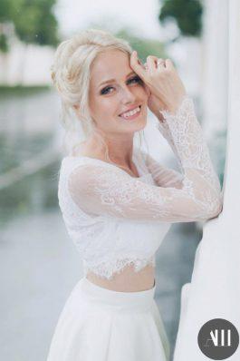 Прическа и макияж на свадьбу от стилистов студии причесок и макияжа Анастасии Швабской