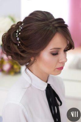 Шикарная свадебная прическа и макияж от стилиста Маргариты Соловьевой