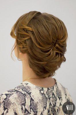 Собранные короткие волосы на свадьбу