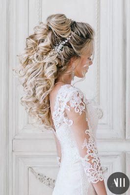 Свадебная прическа греческая коса назад