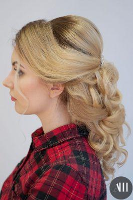 Свадебная прическа греческая коса назад от стилиста