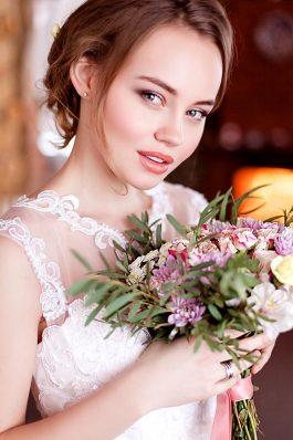 Свадебная прическа и макияж от стилиста Марины Емельяновой