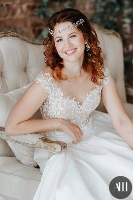 Свадебная прическа локоны на средние волосы