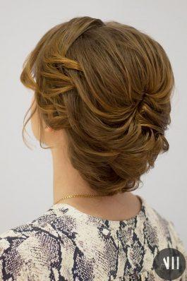 Свадебная прическа пучок на короткие волосы