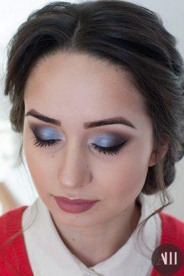 Яркий красивый свадебный макияж с акцентом на глаза