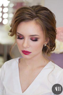 Яркий макияж на свадьбу от стилиста Ангелины Солнцевой