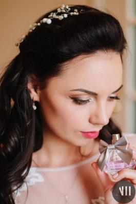 Свадебный макияж с акцентом на глаза и локоны
