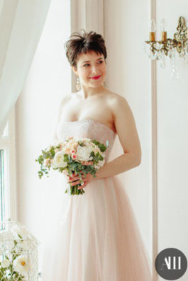 Свадебный образ с короткими волосами